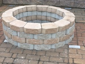 Build a firepit with supplies from Hedgecock Builders Supply!